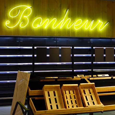 Etalage de la boutique Bonheur du restaurant Maison B à Anglet